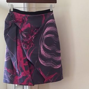 Jason Wu silk skirt, size 0, pink and grey floral